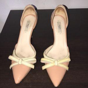 Prada nude/light peach heels very gently used